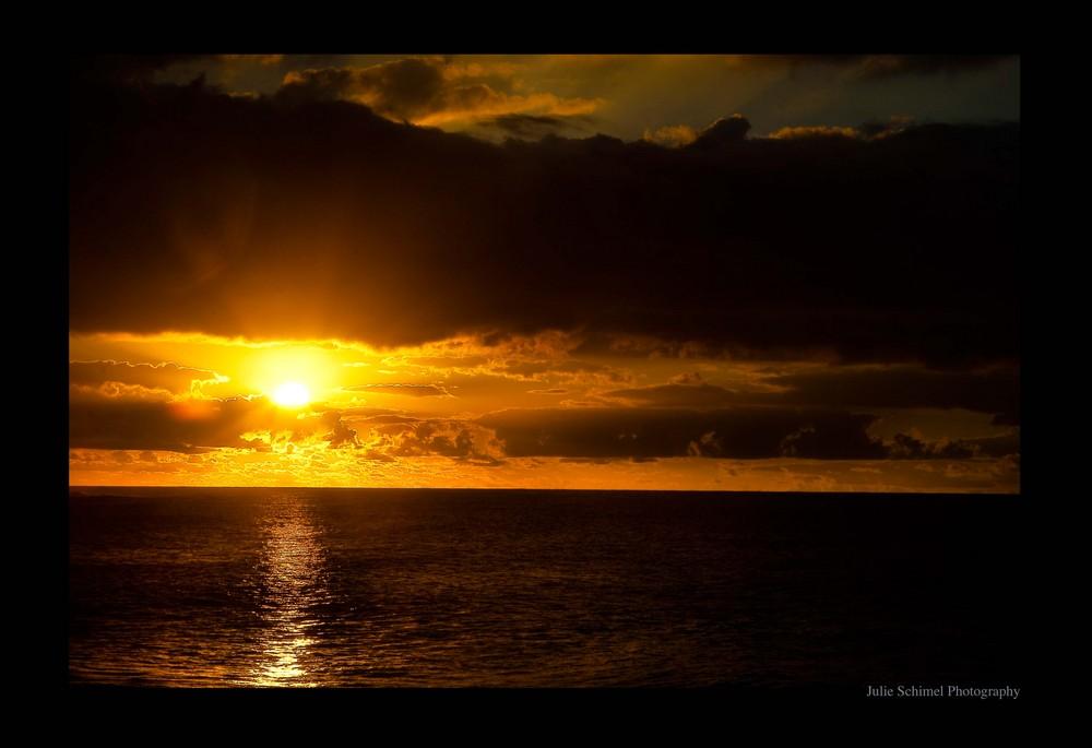 Sunset at La Reunion ( France )