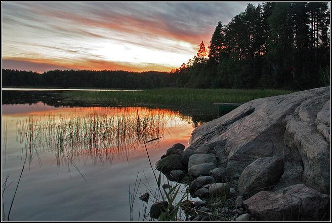 Sunset at Ladoga