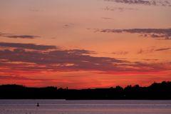 """Sunset at lake """"Müritz"""""""