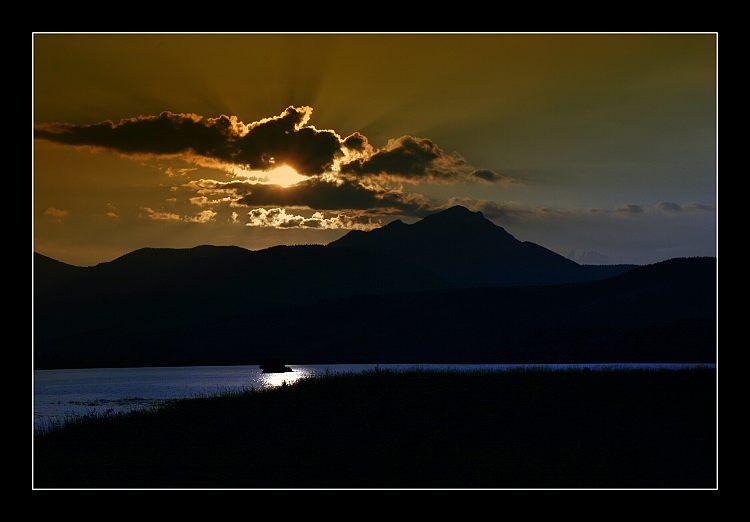 ... sunset at Liptovska Mara