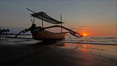 * Sunset at Lovina Beach *