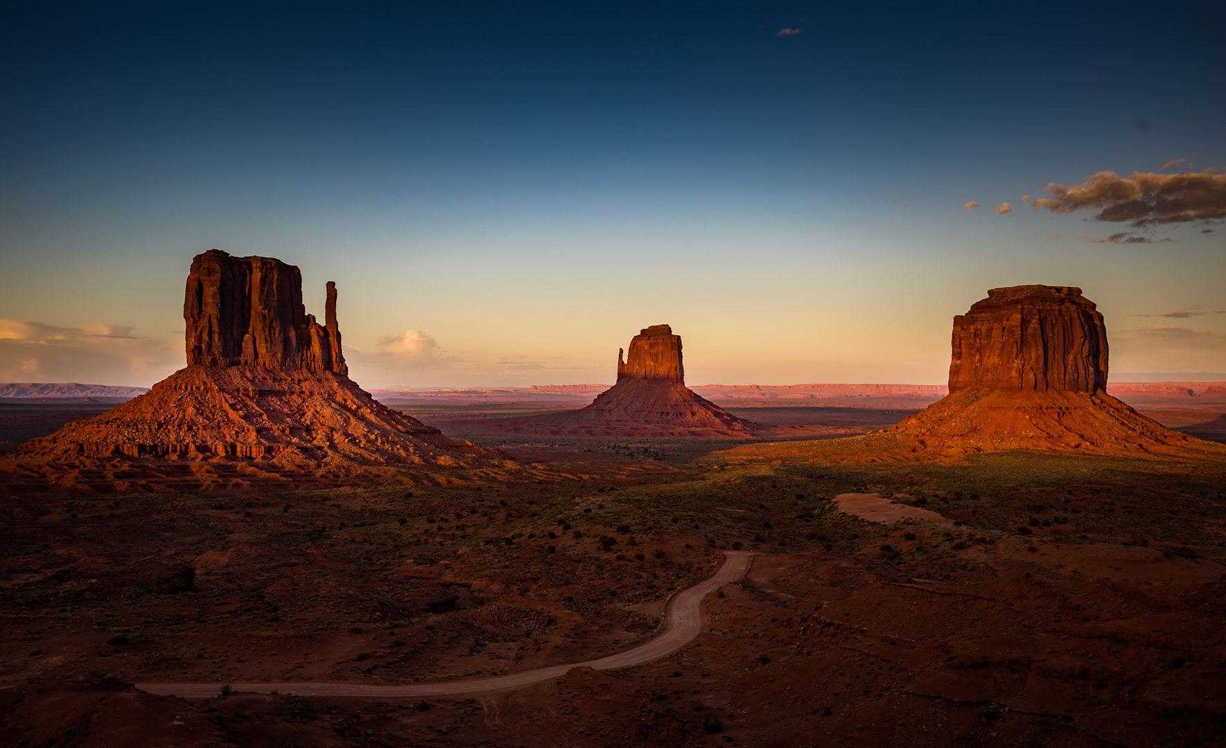 Sunset at Monument Valley
