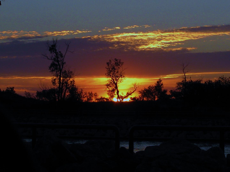 Sunset at Muskegon Lake Harbor Inlet