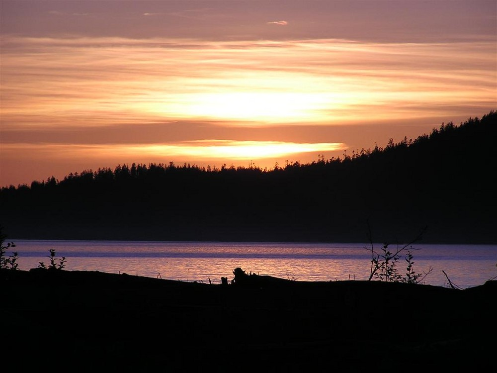 Sunset at Port Renfrew, Vancouver Island, BC Canada