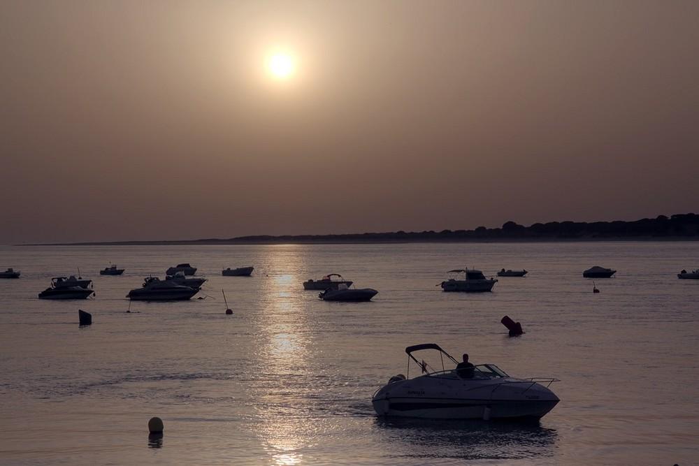 Sunset at river Guadalquivir