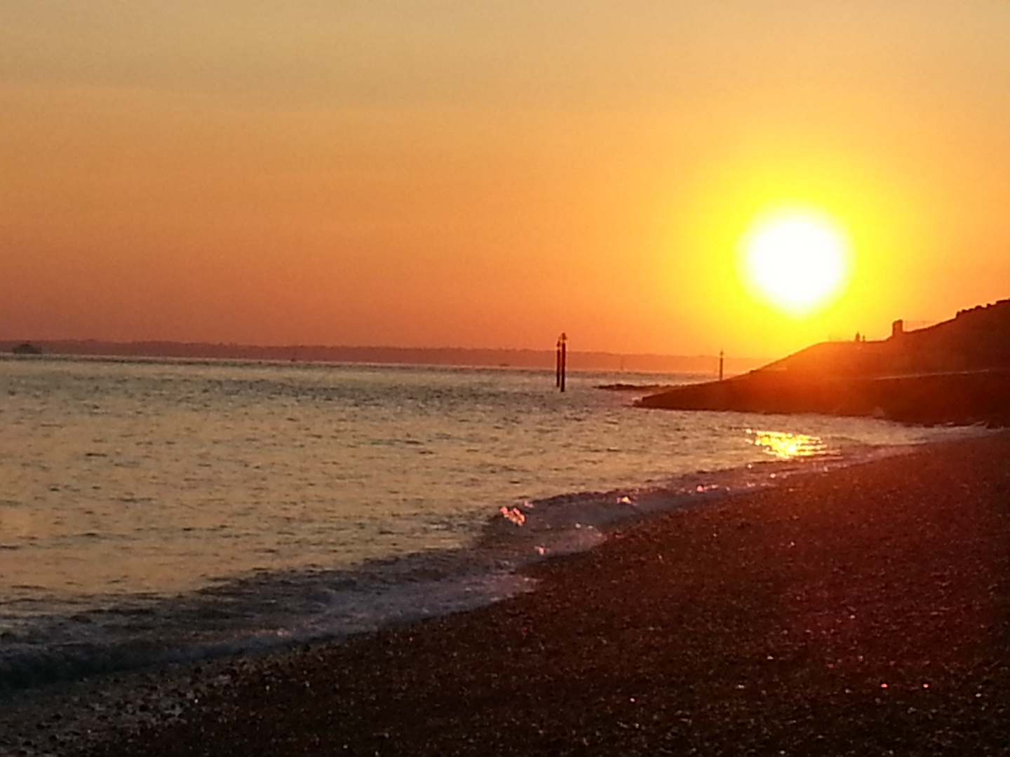 Sunset at Southsea Portsmouth