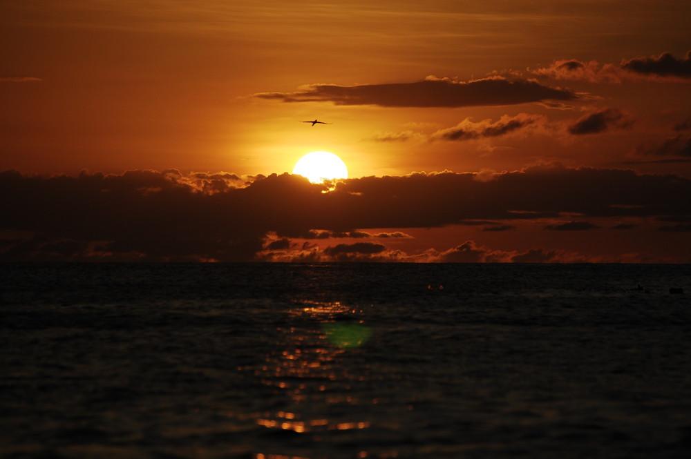 sunset at the beach (Manzanillo Beach - Isla de Margarita)