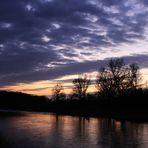 """Sunset at the river """"Mulde"""""""