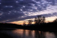 "Sunset at the river ""Mulde"""