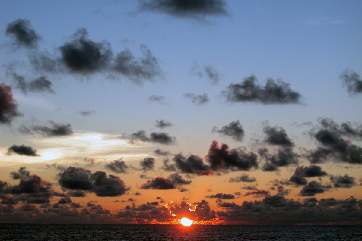 Sunset at the skyline in Andaman Sea