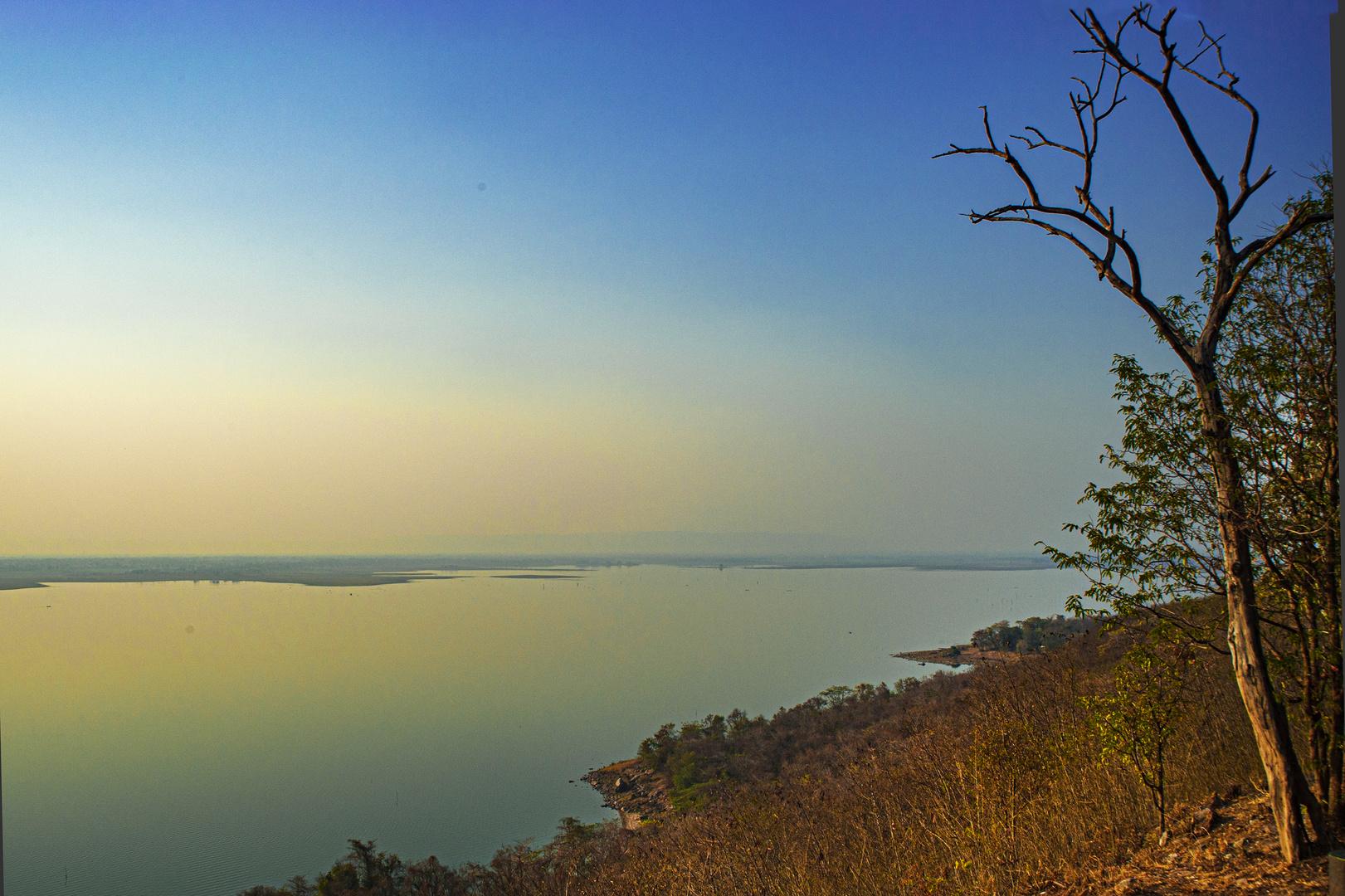 Sunset at the Ubol Ratana Dam