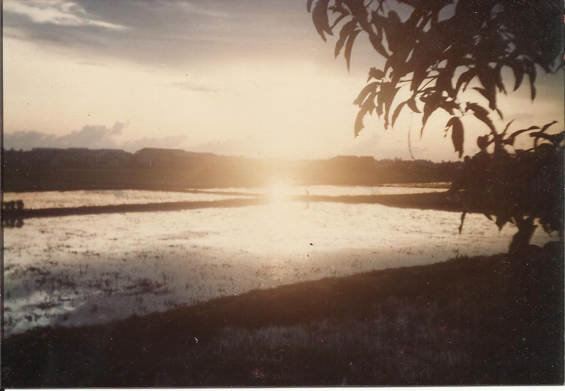 sunset at vilage