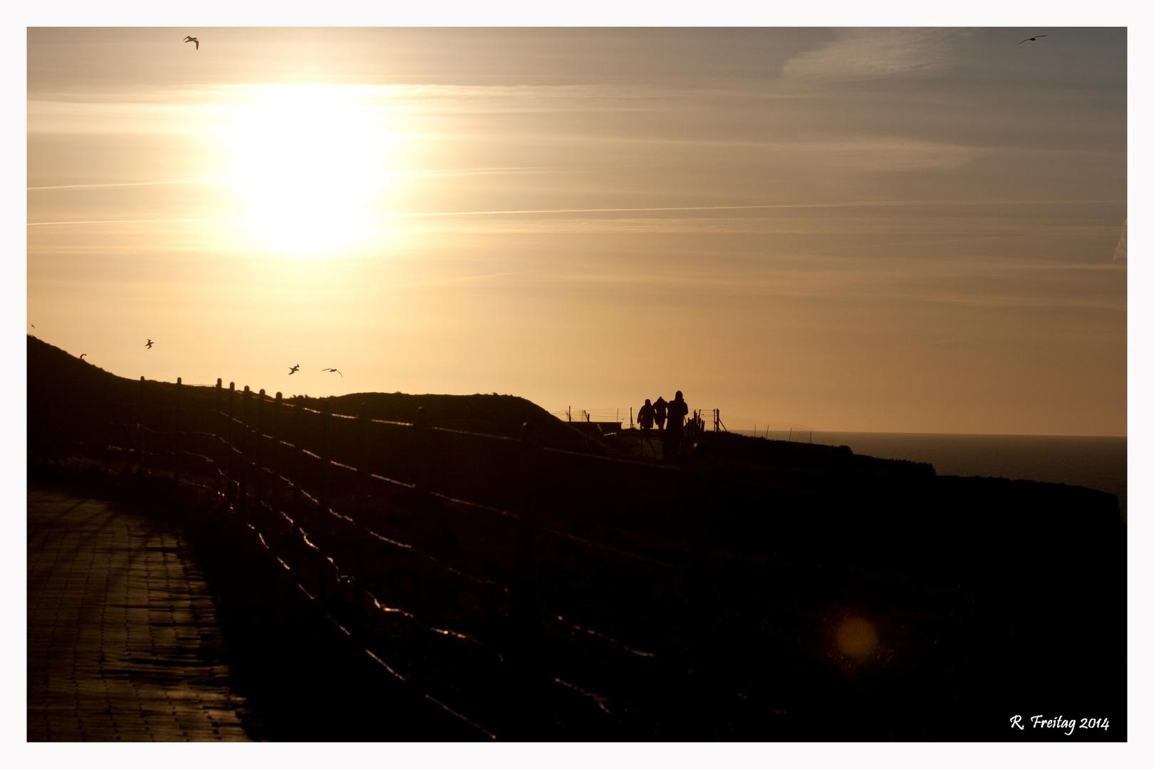 Sunset auf Helgoland