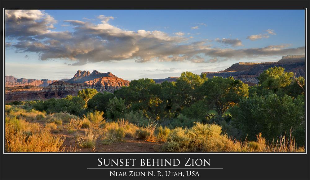 [ Sunset behind Zion ]