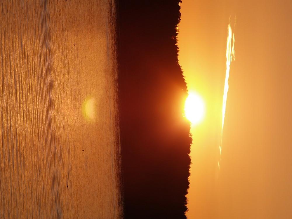 Sunset bench Tofino Canada