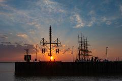 Sunset, Bremerhaven