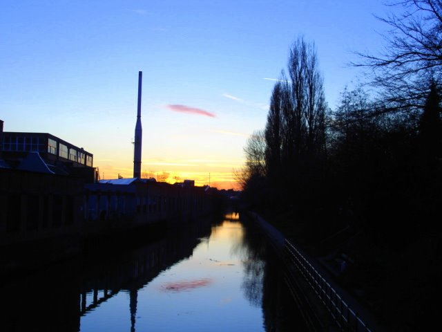 Sunset By A Canal