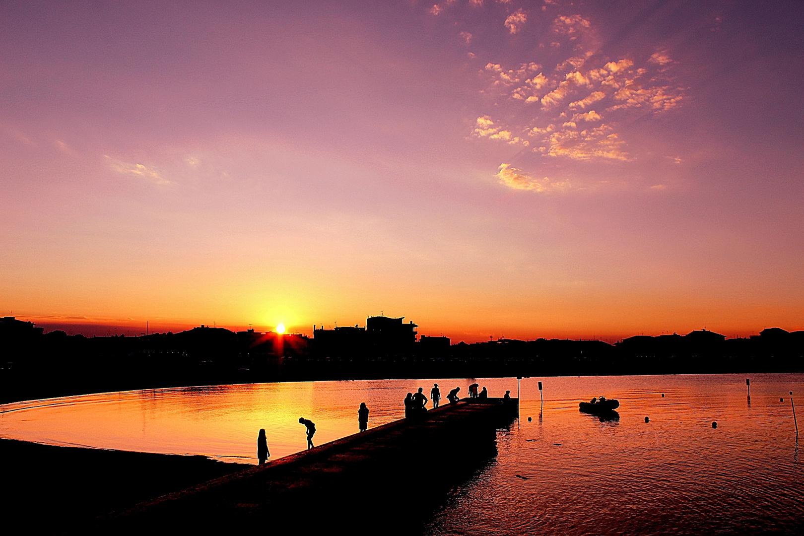 Sunset Caorle