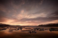 Sunset Gletscherlagune Jökulsárlón