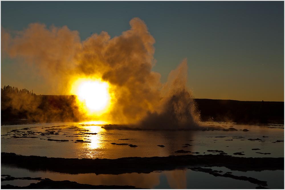 Sunset @ Great Fountain Geyser