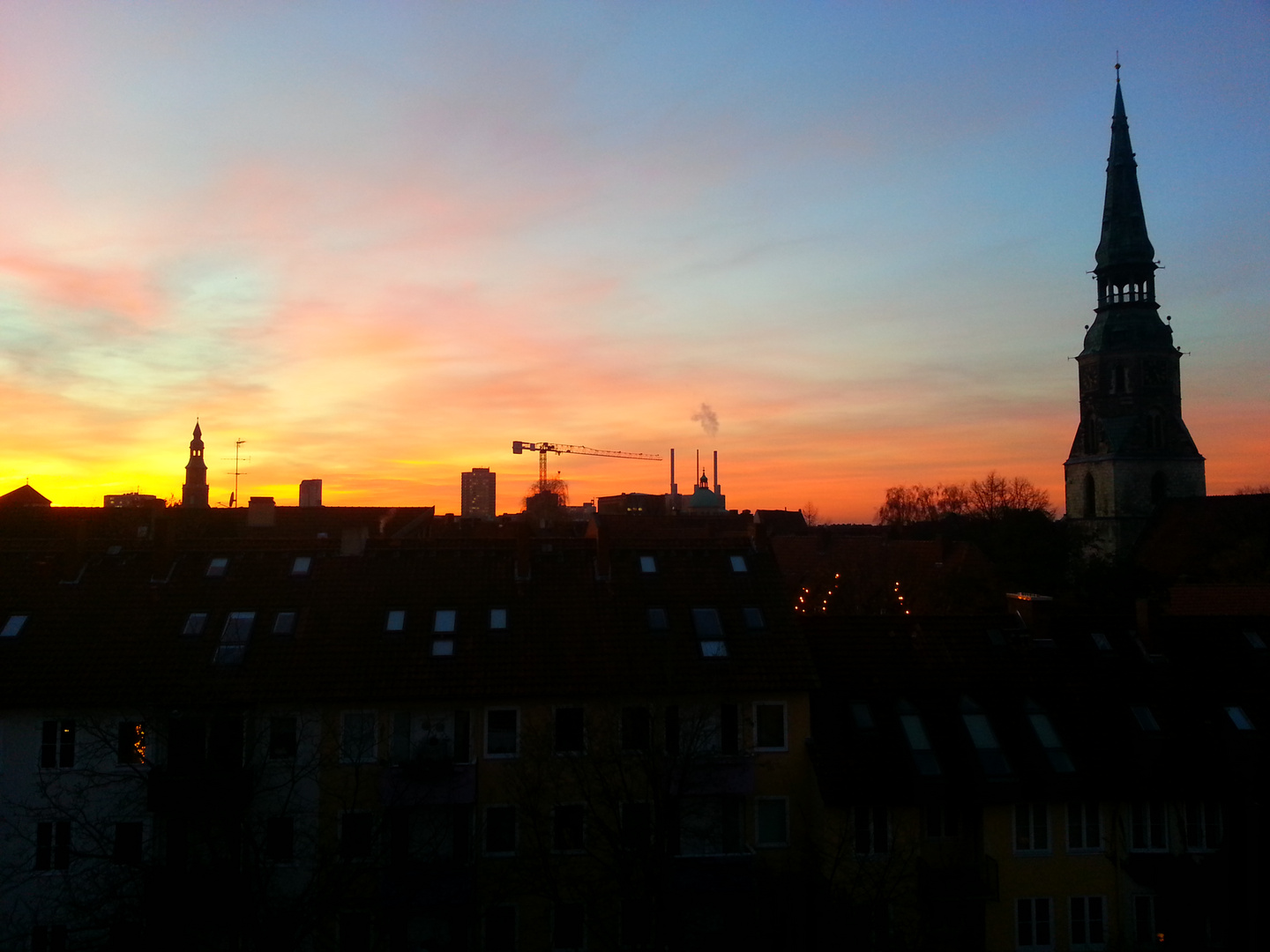 sunset Hannover