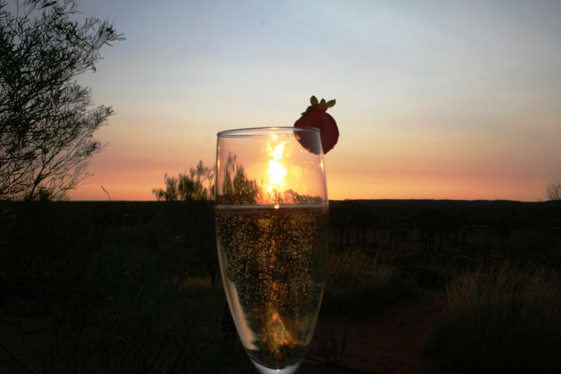 sunset in a drink ..