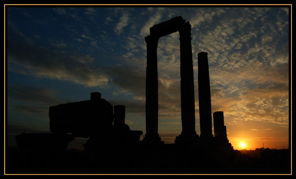 Sunset in Amman