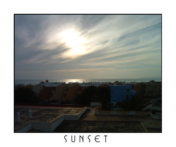 Sunset in Andalusien