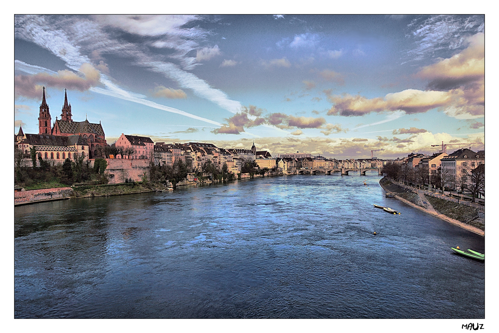 .. Sunset in Basel...