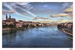 .. Sunset in Basel...