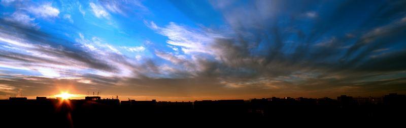 Sunset in Bucharest