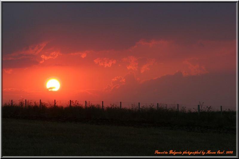 Sunset in Bulgaria 2006