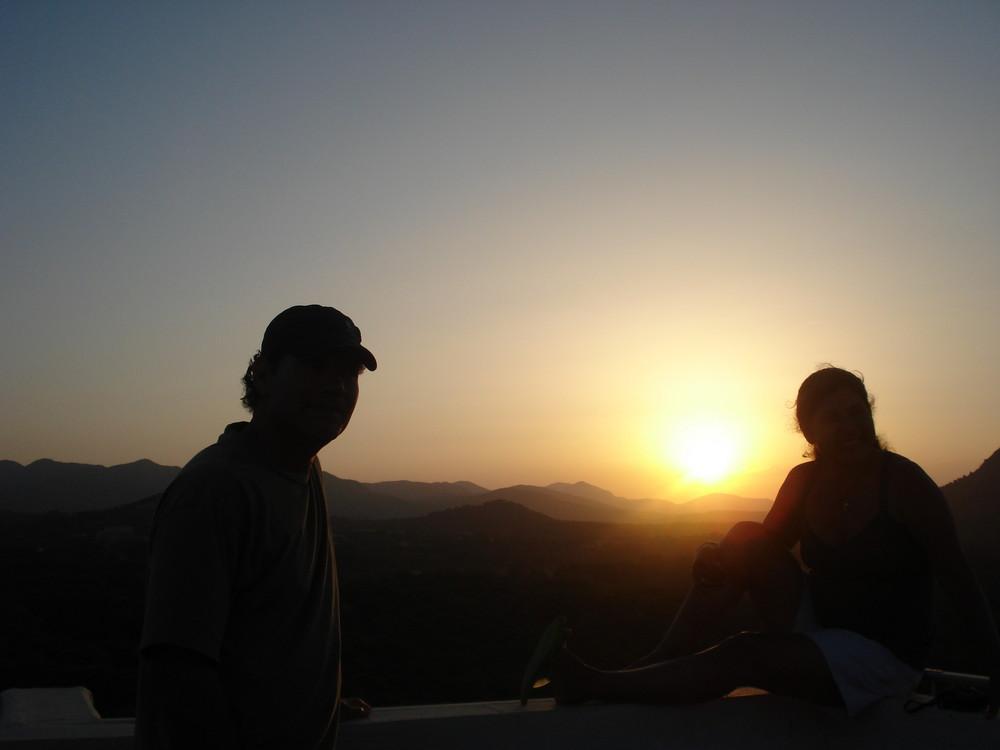 sunset in Cala Agulla