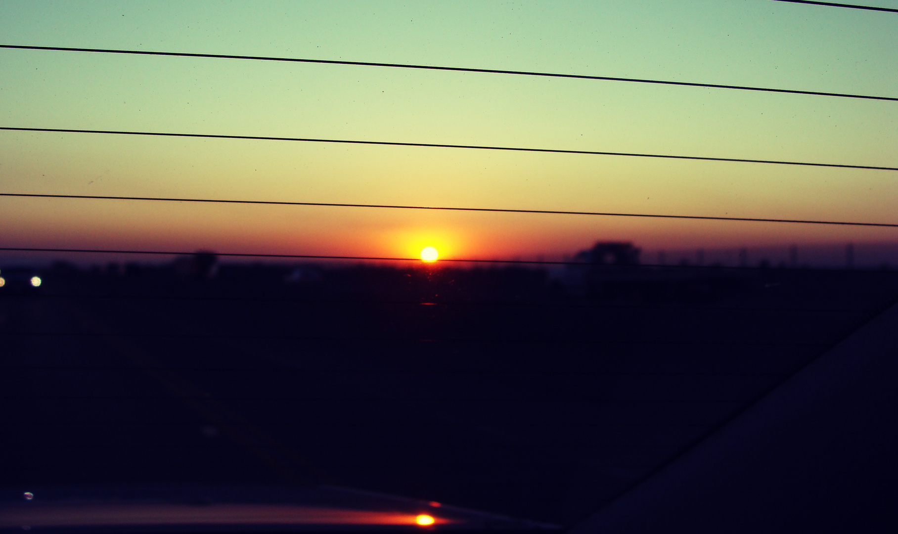 Sunset In California - Highway Nr.5
