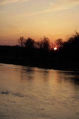 Sunset in Dessau in spring