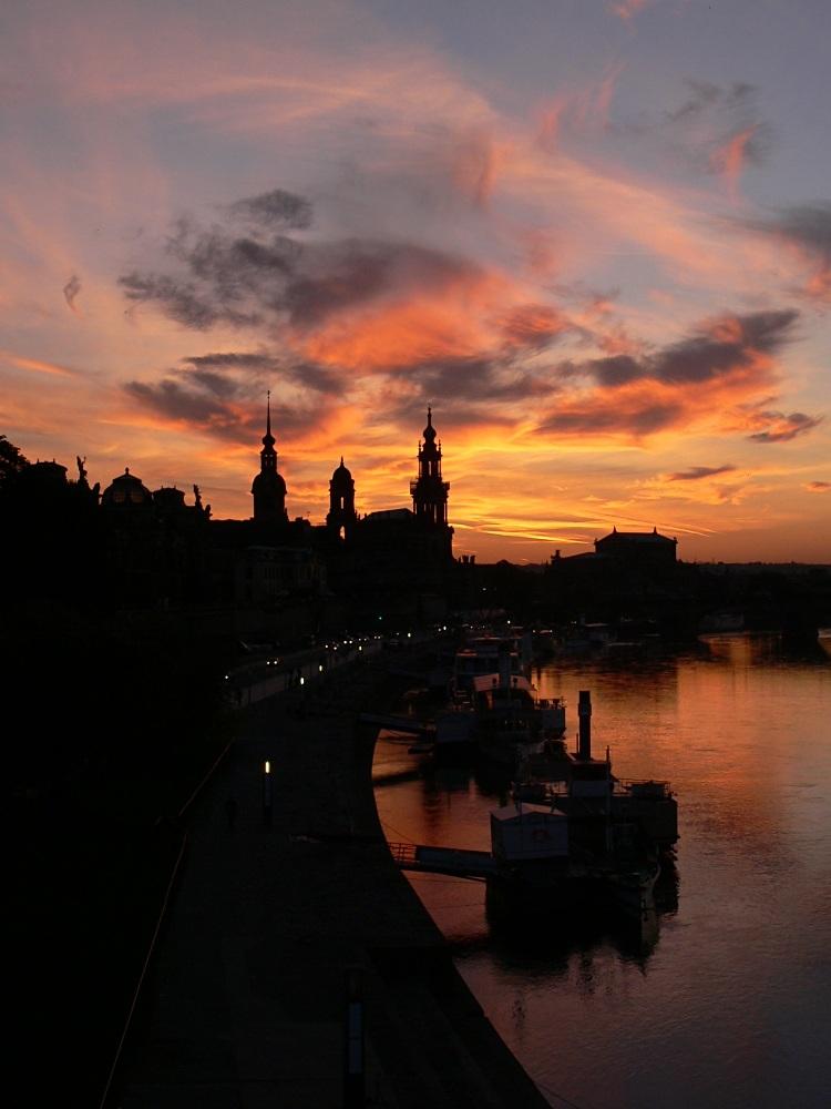 Sunset in Dresden