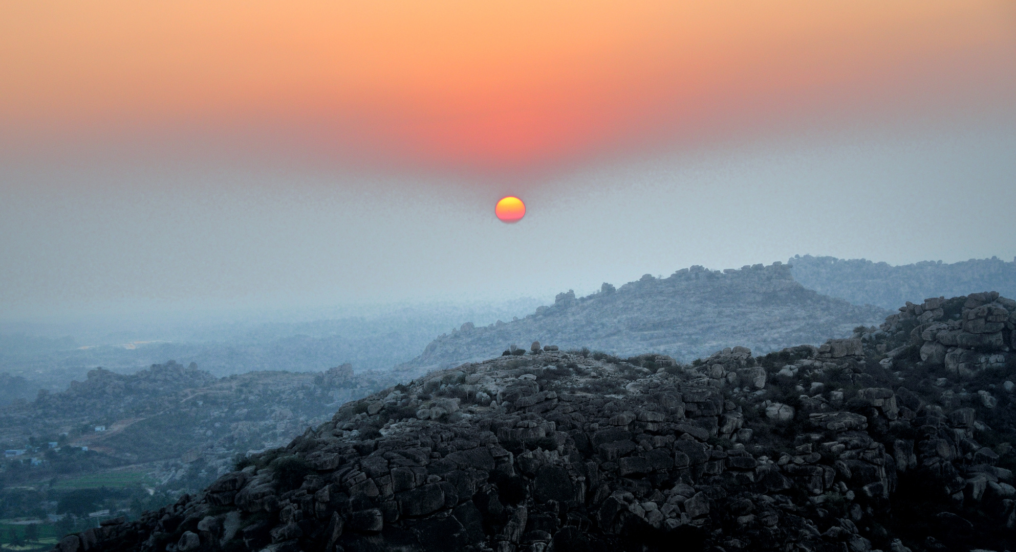 Sunset in Hampi