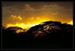 Sunset in Kimana
