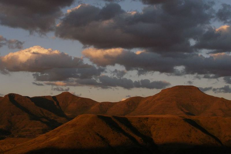 Sunset in Lesotho