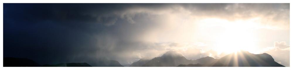Sunset in Lofoten.