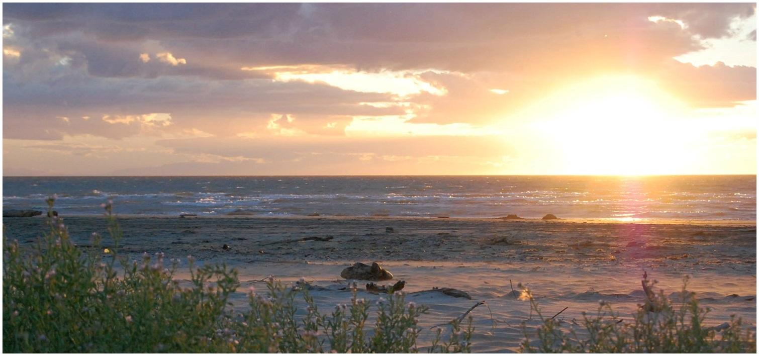 Sunset in Mahia Beach, Jan. 2014