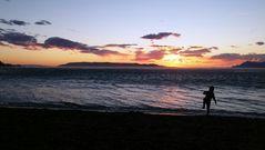 Sunset in Makarska, Croatia