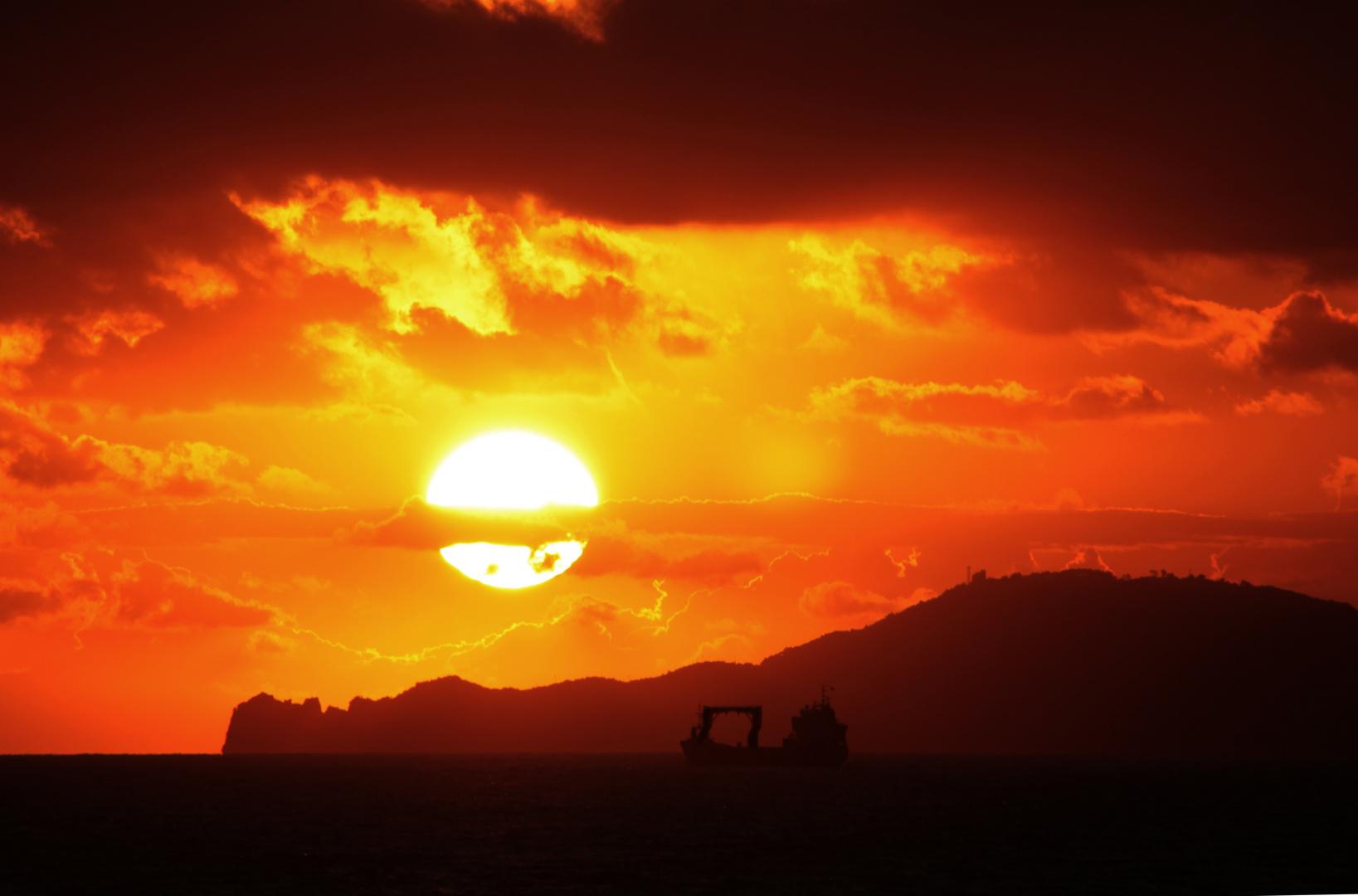 Sunset in Marina di Massa
