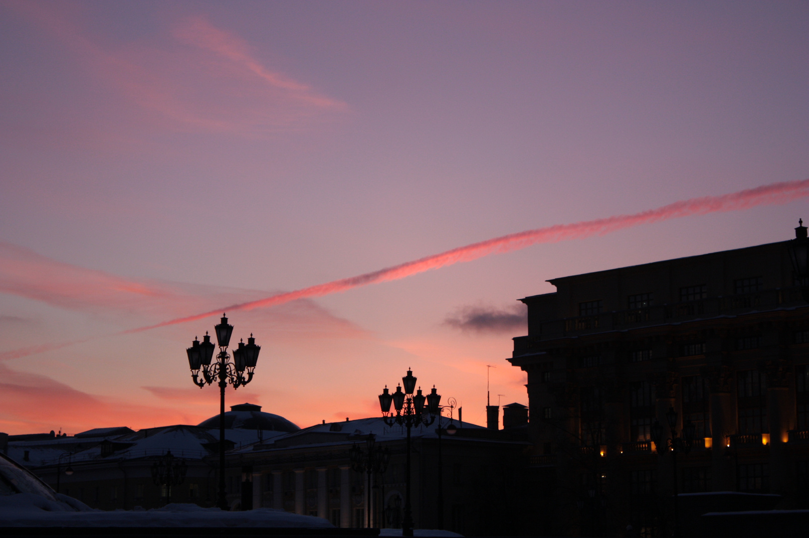 Sunset in Moscow.