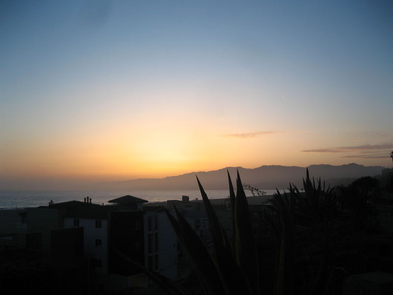 sunset in santamonica