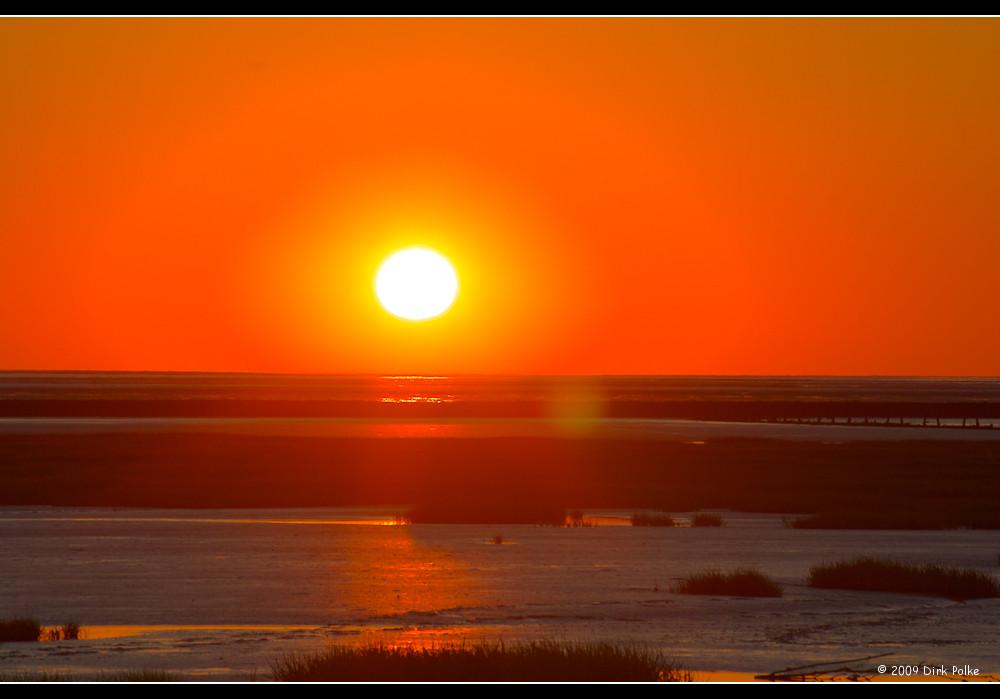 Sunset in Spieka-Neufeld