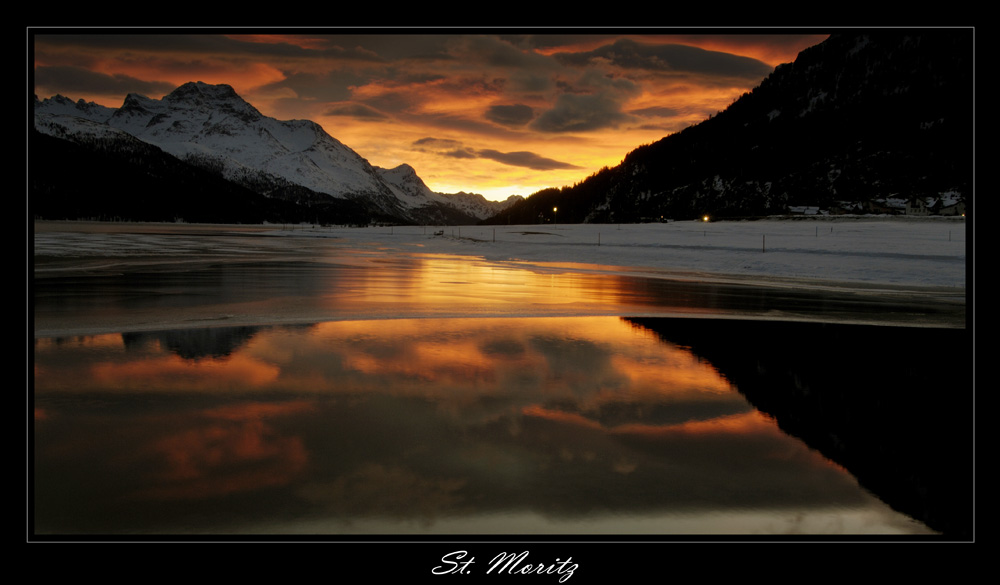 Sunset in St. Moritz