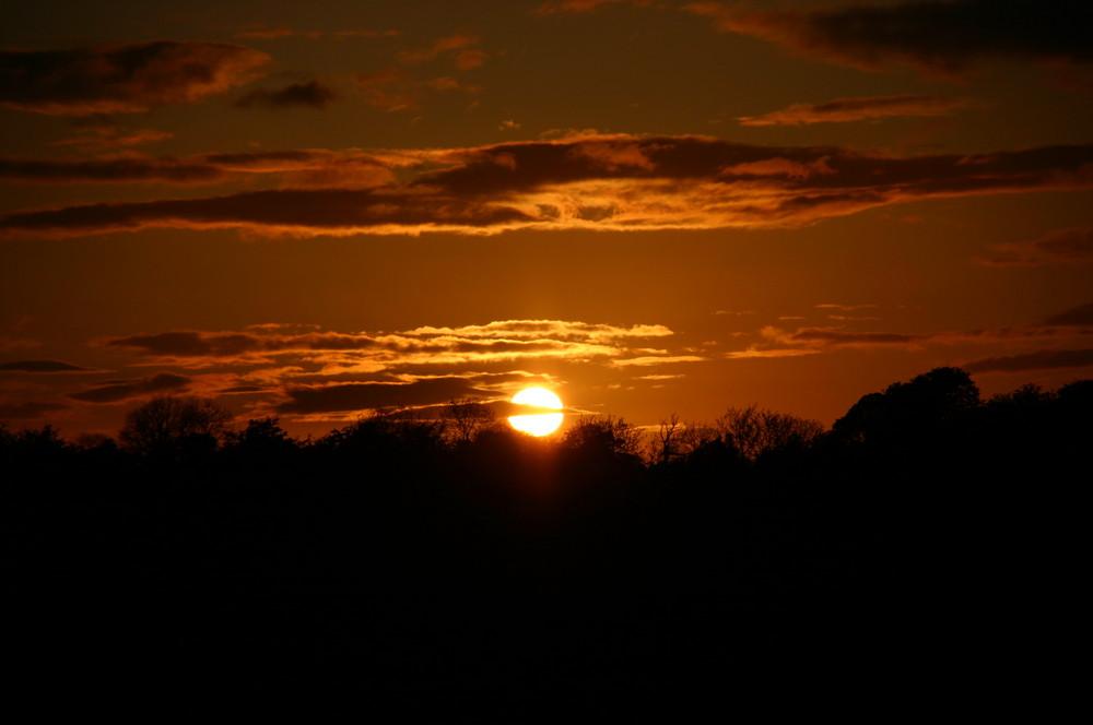 Sunset in Swords, Ireland