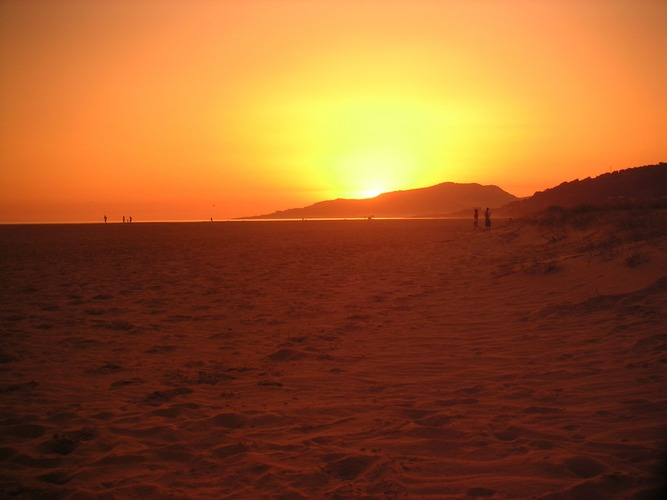 sunset in tarifa (spain)