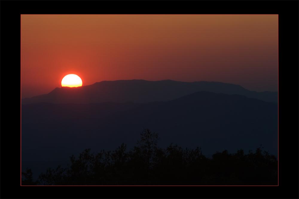 Sunset in the Blue Ridge